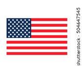usa flag. united states america ... | Shutterstock .eps vector #504647545