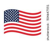 usa flag. united states america.... | Shutterstock .eps vector #504647551