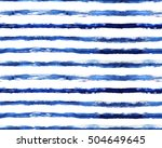 blue grungy watercolor stripes... | Shutterstock . vector #504649645
