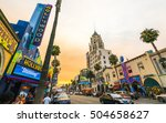 los angeles california usa.... | Shutterstock . vector #504658627
