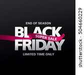 black friday sale banner.... | Shutterstock .eps vector #504660229