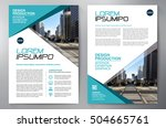 business brochure. flyer design.... | Shutterstock .eps vector #504665761