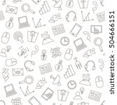 it business icons pattern on... | Shutterstock .eps vector #504666151
