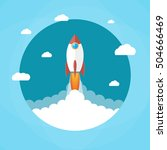 space rocket launch. rocket in... | Shutterstock . vector #504666469