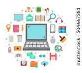 internet art icons vector... | Shutterstock .eps vector #504667381