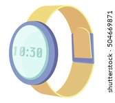 wrist electronic watch icon.... | Shutterstock .eps vector #504669871