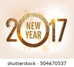 golden glitter text 2017 on...   Shutterstock .eps vector #504670537