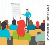 lecture. education in the... | Shutterstock .eps vector #504671215
