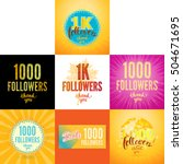 set of vector thank you 1000... | Shutterstock .eps vector #504671695