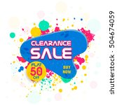 clearance sale poster  banner ... | Shutterstock .eps vector #504674059