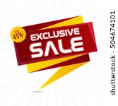 exclusive sale paper tag or... | Shutterstock .eps vector #504674101