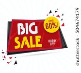 big sale  creative paper tag... | Shutterstock .eps vector #504674179
