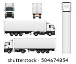 vector truck trailer template... | Shutterstock .eps vector #504674854