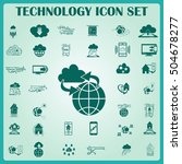 technology innovation icons set.... | Shutterstock .eps vector #504678277