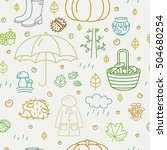 seamless pattern with different ... | Shutterstock .eps vector #504680254