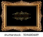 gold photo frame with corner... | Shutterstock .eps vector #504680689