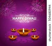 elegant greeting card design... | Shutterstock .eps vector #504680944