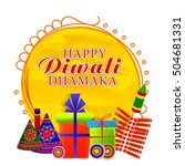 happy diwali dhamaka poster ... | Shutterstock .eps vector #504681331