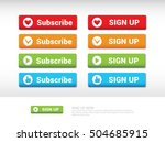 subscribe button.sing up button.... | Shutterstock .eps vector #504685915