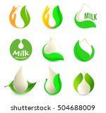 isolated abstract white drop of ... | Shutterstock .eps vector #504688009