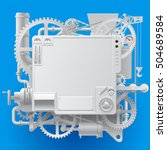 white complex fantastic machine ... | Shutterstock .eps vector #504689584