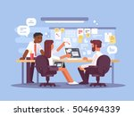 work schedule  working... | Shutterstock .eps vector #504694339