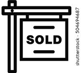 sale sign icon | Shutterstock .eps vector #504694687