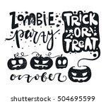 black and white set vector... | Shutterstock .eps vector #504695599