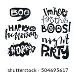 black and white set vector... | Shutterstock .eps vector #504695617