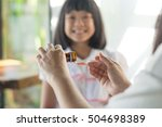 happy asia little child girl... | Shutterstock . vector #504698389