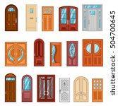 design collection of detailed...   Shutterstock .eps vector #504700645