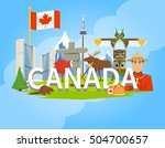 canadian national cultural... | Shutterstock .eps vector #504700657