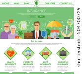 insurance company services one... | Shutterstock .eps vector #504700729
