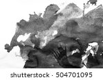 grunge ink stains on white paper   Shutterstock . vector #504701095