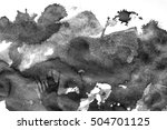 grunge ink stains on white paper | Shutterstock . vector #504701125