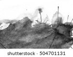 grunge ink stains on white paper   Shutterstock . vector #504701131