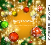christmas invitation with... | Shutterstock .eps vector #504704941