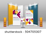 advertising exhibition stand... | Shutterstock .eps vector #504705307