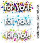 for you colour banners set.... | Shutterstock .eps vector #504706855