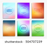 brochure flyer layouts in a4... | Shutterstock .eps vector #504707239