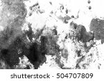 grunge ink stains on white paper   Shutterstock . vector #504707809