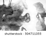 grunge ink stains on white paper   Shutterstock . vector #504711355