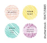 hand drawn color circles for... | Shutterstock .eps vector #504715885