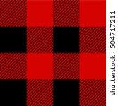 lumberjack pattern | Shutterstock .eps vector #504717211