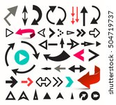 arrows set. vector arrow... | Shutterstock .eps vector #504719737