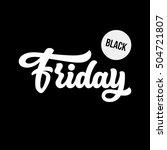black friday sale lettering ... | Shutterstock .eps vector #504721807