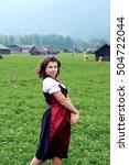 beautiful  young  bavarian...   Shutterstock . vector #504722044