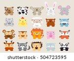cute animal vector illustration ... | Shutterstock .eps vector #504723595