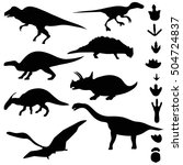 symbols of dinosaurs and... | Shutterstock .eps vector #504724837
