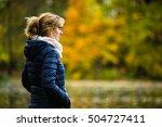 middle aged woman walking in...   Shutterstock . vector #504727411